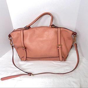 Ora Delphine Pink Leather Bag